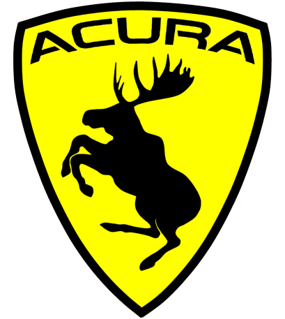 Prancing Moose Acura Sticker.