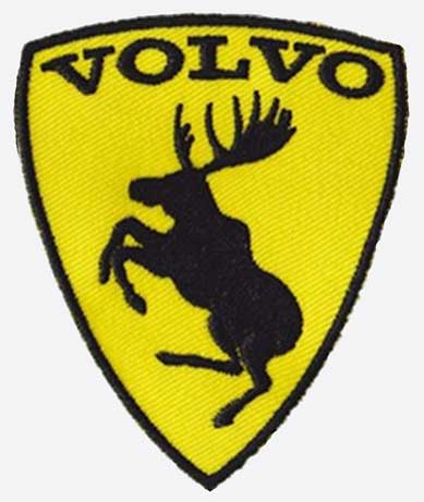 Prancing                     Moose Embroidered Patch. Dave's Volvo Page.