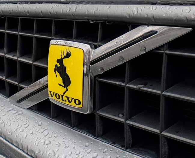 Volvo Prancing Moose Grille Overlay.