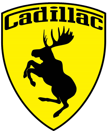 Prancing Moose Cadillac Sticker.