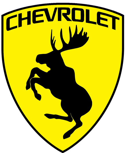 Prancing Moose Chevrolet Sticker.