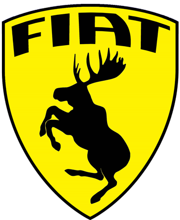 Prancing Moose Fiat sticker.