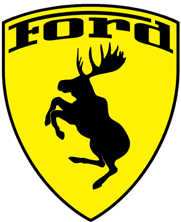 Prancing Moose Ford sticker.