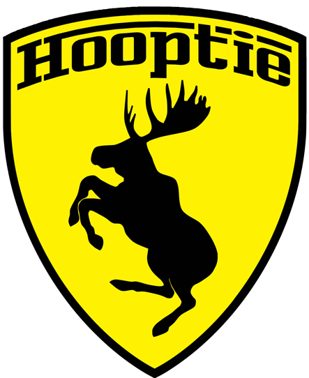 Prancing Moose Hooptie sticker.