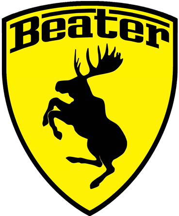 Prancing Moose Beater Sticker