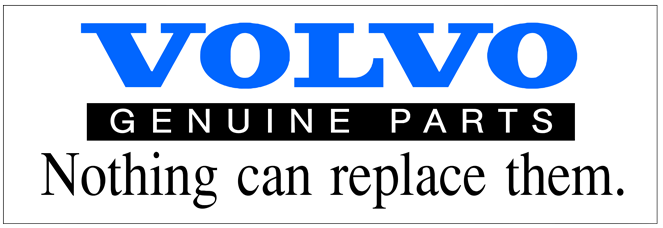 Volvo Genuine Parts sticker.