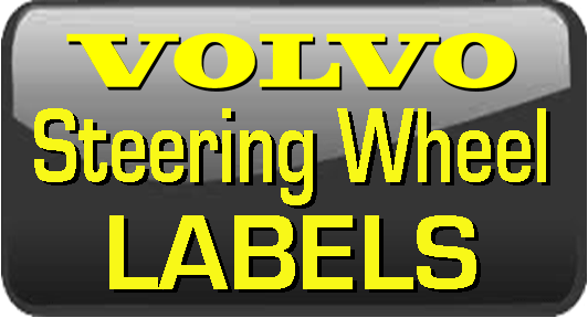 Volvo Steering Wheel Labels