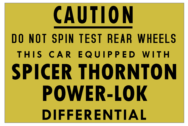 Spicer Thornton Power-Lok sticker.