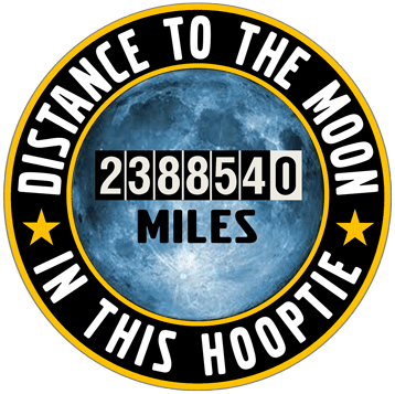 Distance to the Moon in this Hooptie