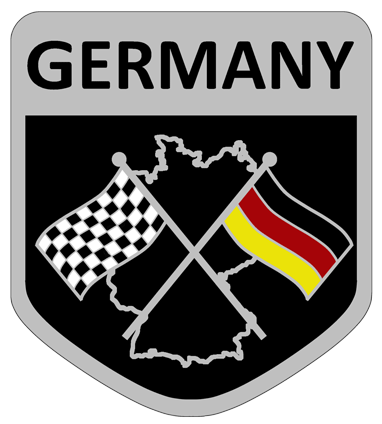 Germany flag badge                         sticker.