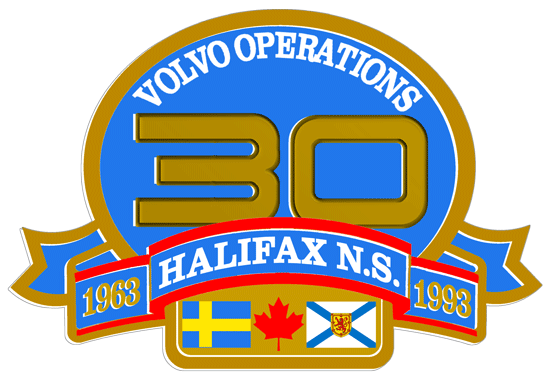 Volvo 30 Years Halifax decal.