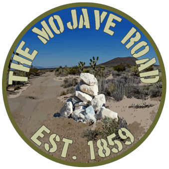The Mojave Road Rock                         Cairn sticker.