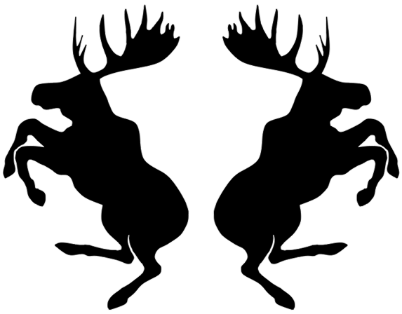 Prancing Moose die cut brake caliper decal