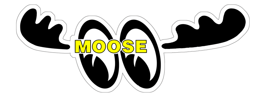 Moose Eyes sticker facing left.