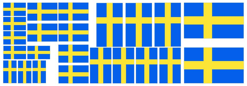 Swedish Flag Sticker                       Assortment.