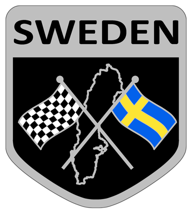 Sweden flag badge sticker.