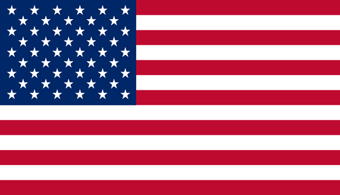US Flag sticker.