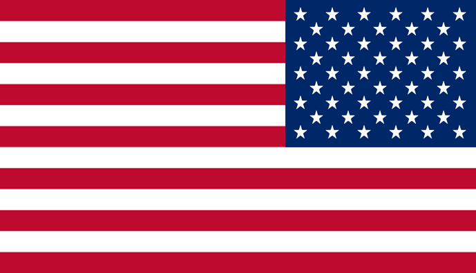 US Flag reverse sticker.